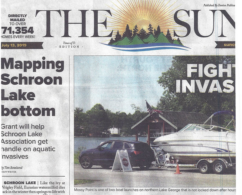 SUN ARTICLES ON INVASIVES AND BOTTOM MAPPING